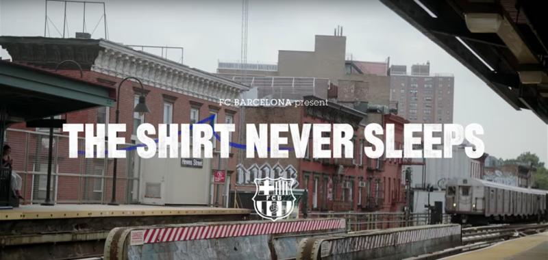 Nike x FC Barcelona Present: The Shirt Never Sleeps