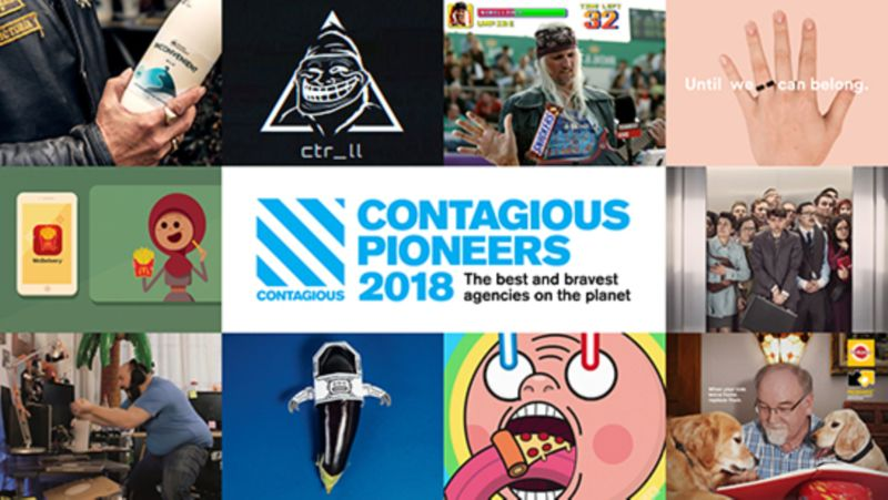 Contagious Pioneers 2018 / The best and bravest agencies on the planet