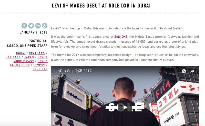 Levi's Debut at Sole DXB - Dubai, UAE