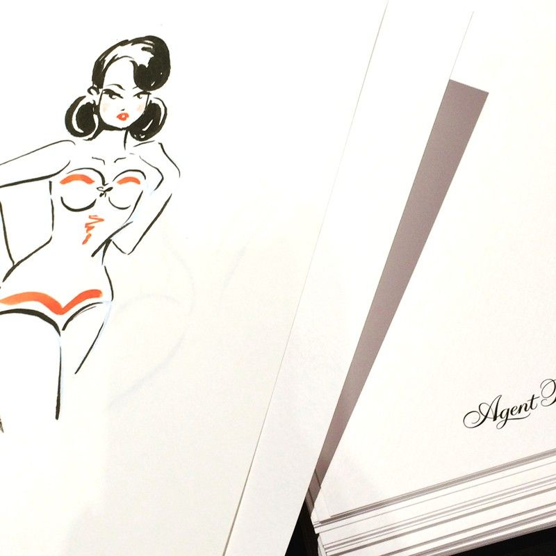 Agent Provocateur | Live drawing in Selfridges