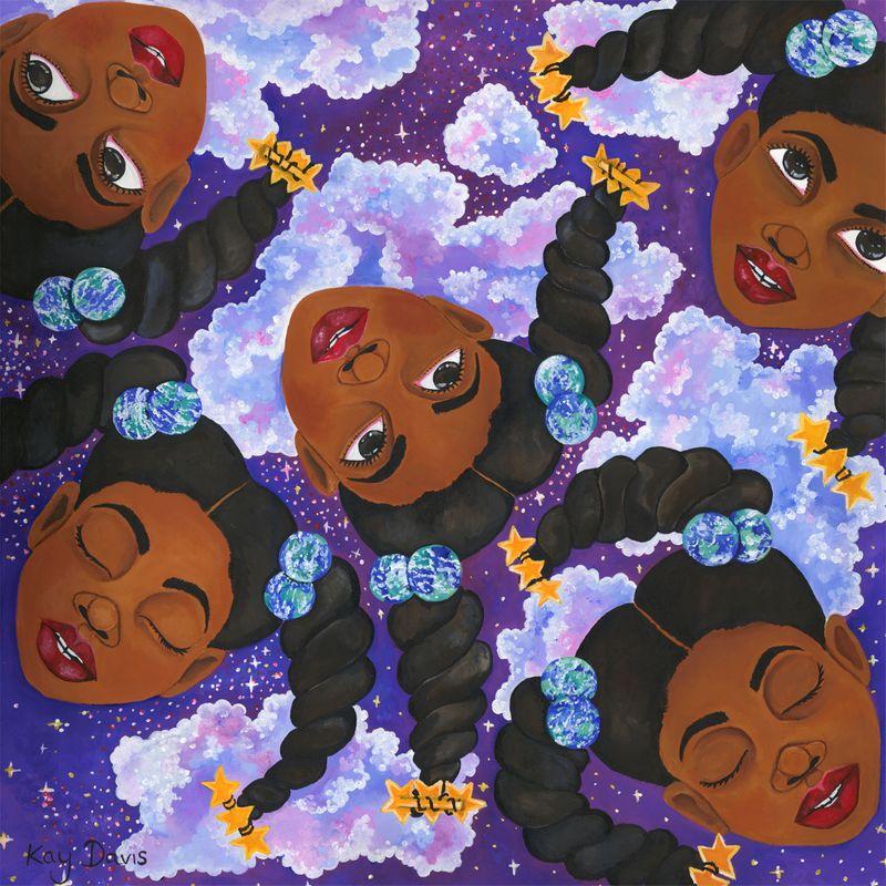 Violet Dreams Painting Series
