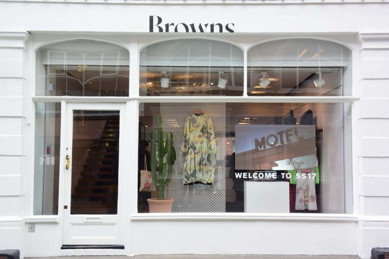 Browns SS17 Collections Window