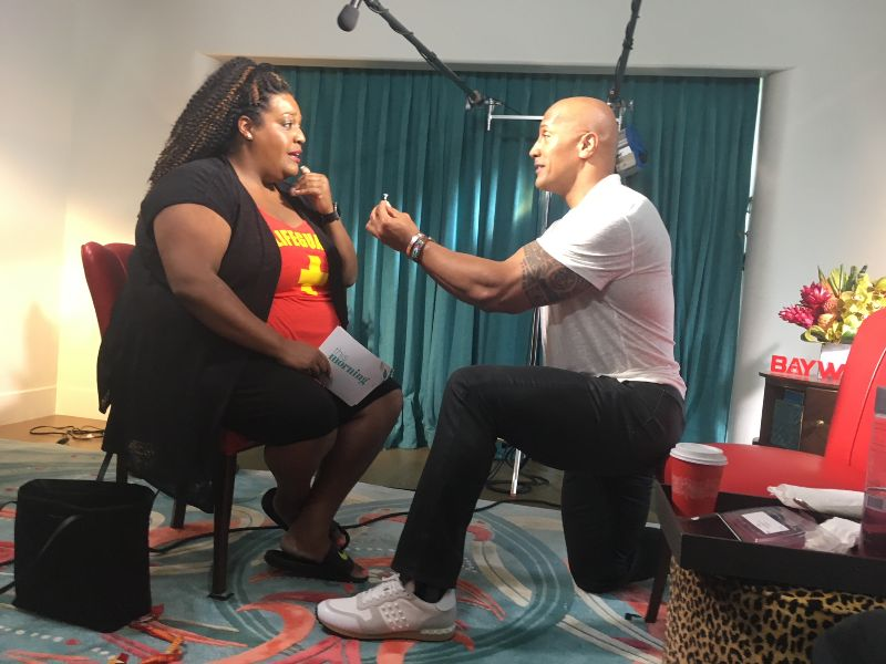 Dwayne Johnson Proposes to Alison Hammond (This Morning, ITV) May 2017