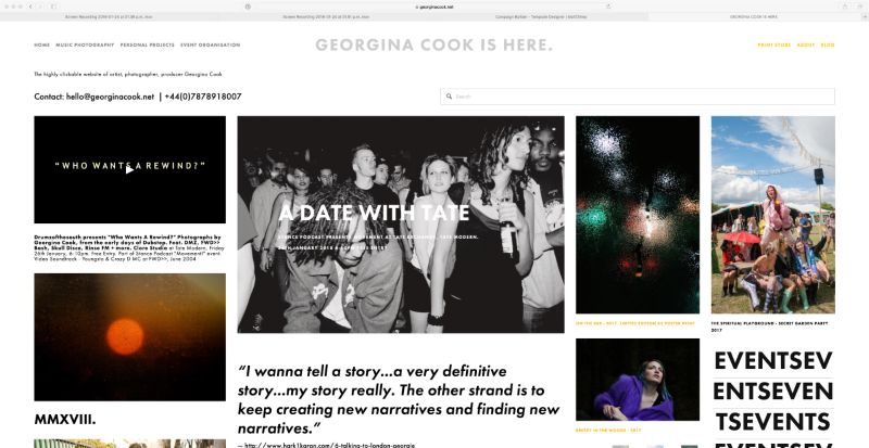 GEORGINA COOK IS HERE - The highly clickable website of Georgina Cook