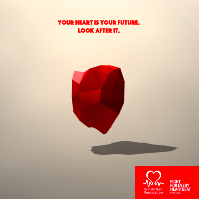 British Heart Foundation - Your Heart is Your Future Campaign - Designed by Darcy Behati Keverian