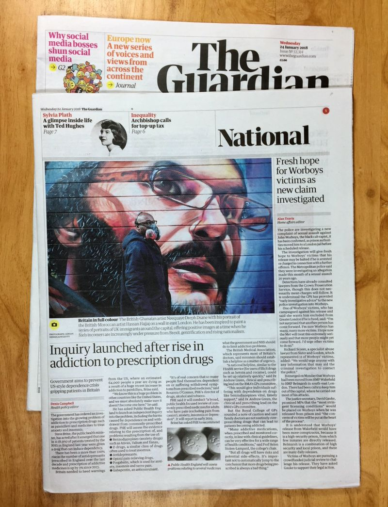 Feature on Migration series in the Guardian