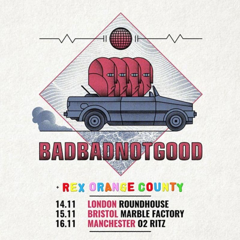 BadBadNotGood at The Roundhouse, with Rex Orange County