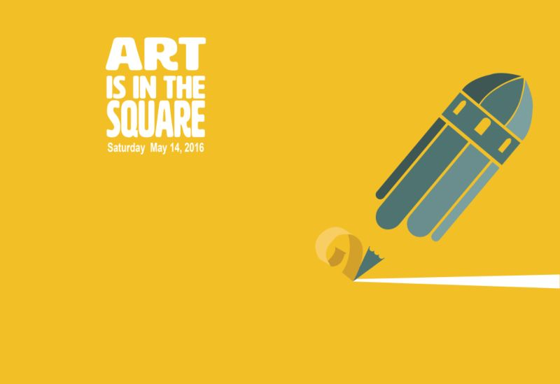 Art is in the square//Identity and poster design