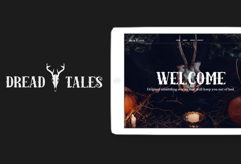 Dread Tales// Brand, blog and web design