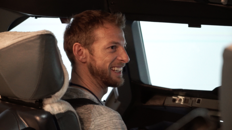 British Airways - Formula 1 ace Jenson Button test drives new career as British Airways pilot