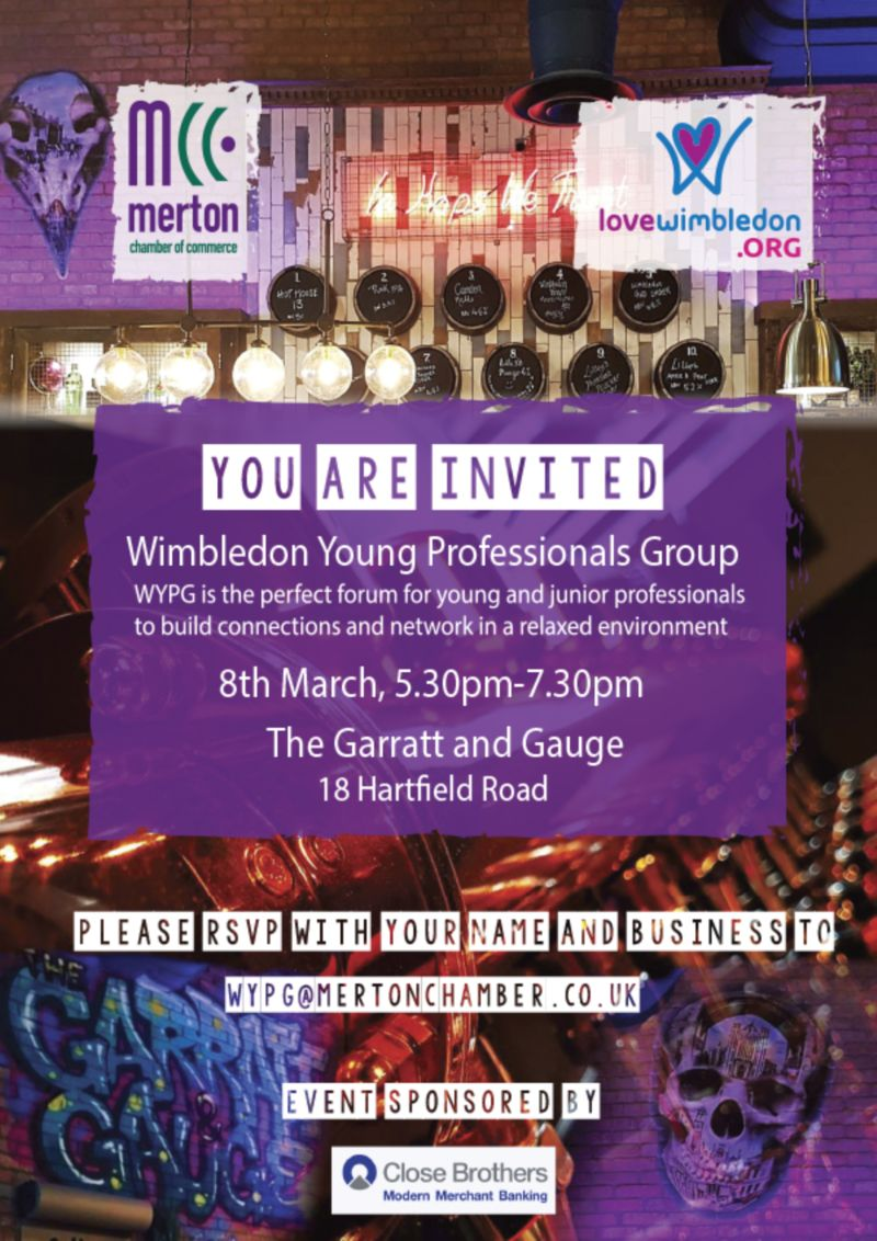 Wimbledon Young Professionals Group - Event invite