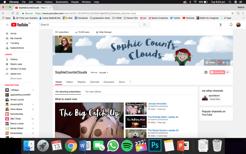 Sophie Counts Clouds - YouTube
