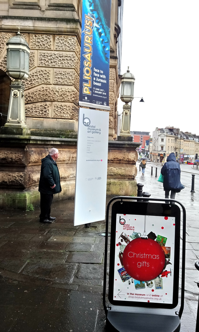 Christmas posters for Bristol Museum