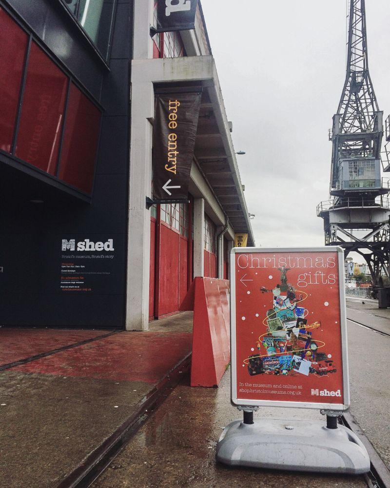 M Shed Christmas gift poster