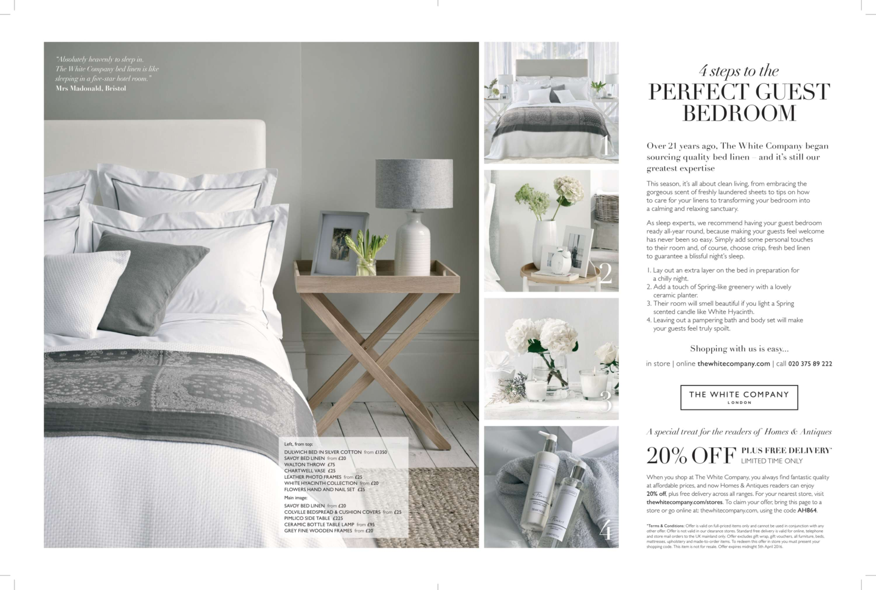 Magazine Advertorial - The White Company | The Dots