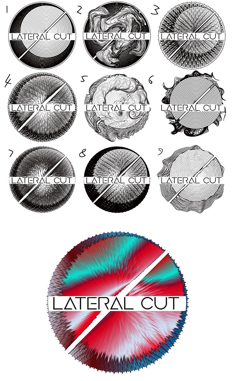 Lateral Cut Logo Development