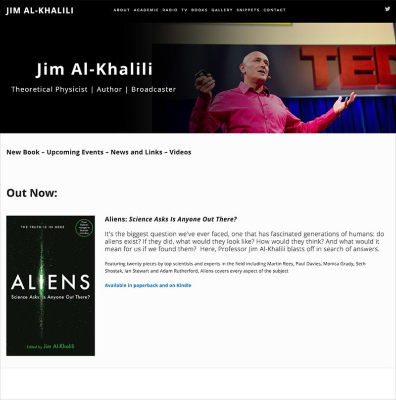 Jim Al-Khalili Website