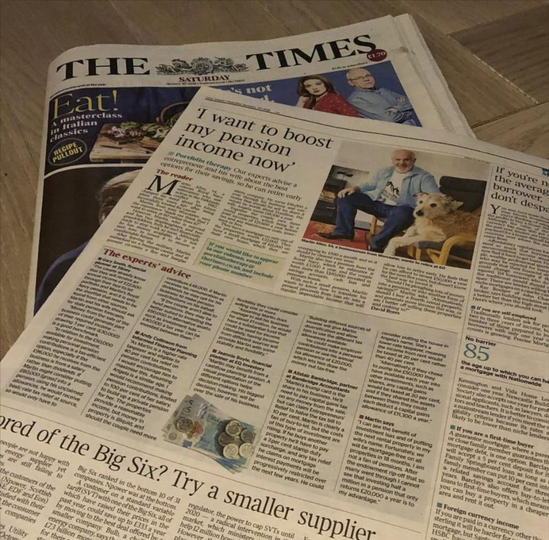 BAMBRIDGE IN THE TIMES: HOW TO BOOST YOUR PENSION?