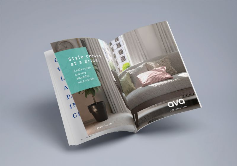 AVA - the creation of a new furniture brand and their website and advertising