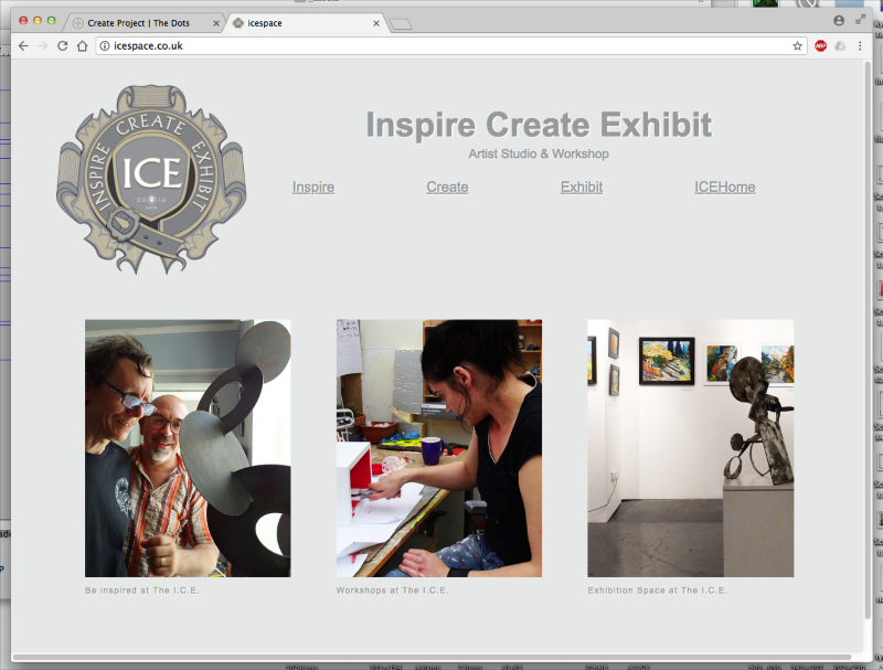 I.C.E. Artist Gallery & Workshop, Bath - Website Design