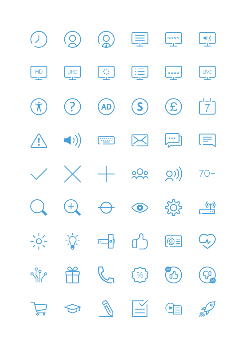 YouView Icon Set