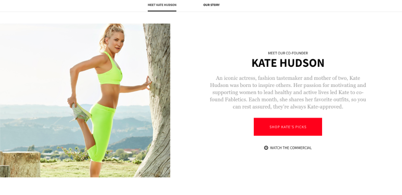 Fabletics digital brand management and content