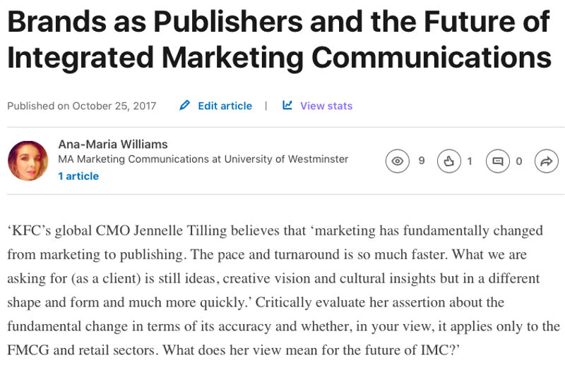 Brands as Publishers and the Future of Integrated Marketing Communications