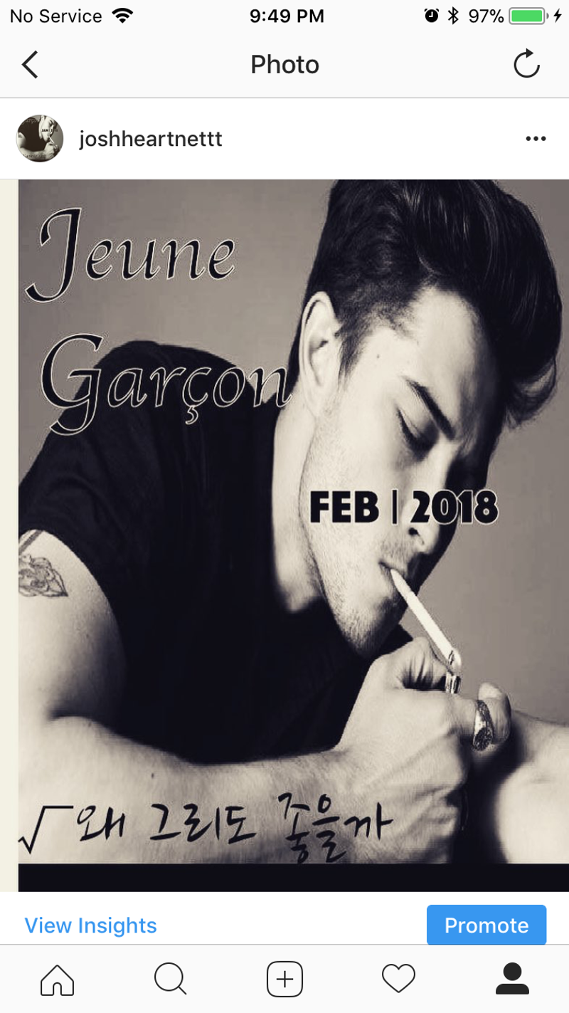 JEUNE GARCON DEBUT 2018 in LONDON FASHION WEEK
