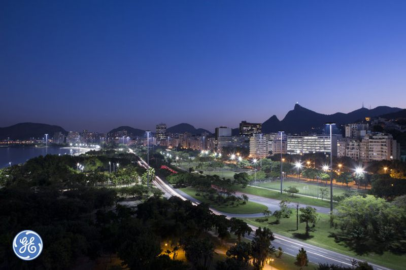 New GE led lighting system in Rio de Janeiro