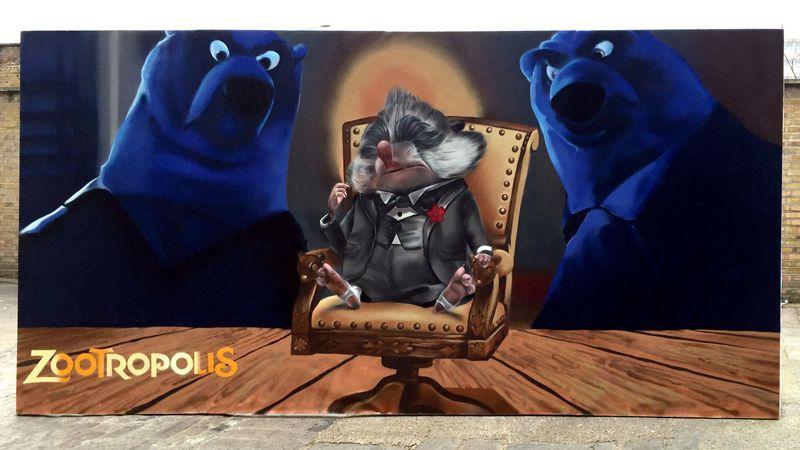 Disney Zootropolis Live Painting