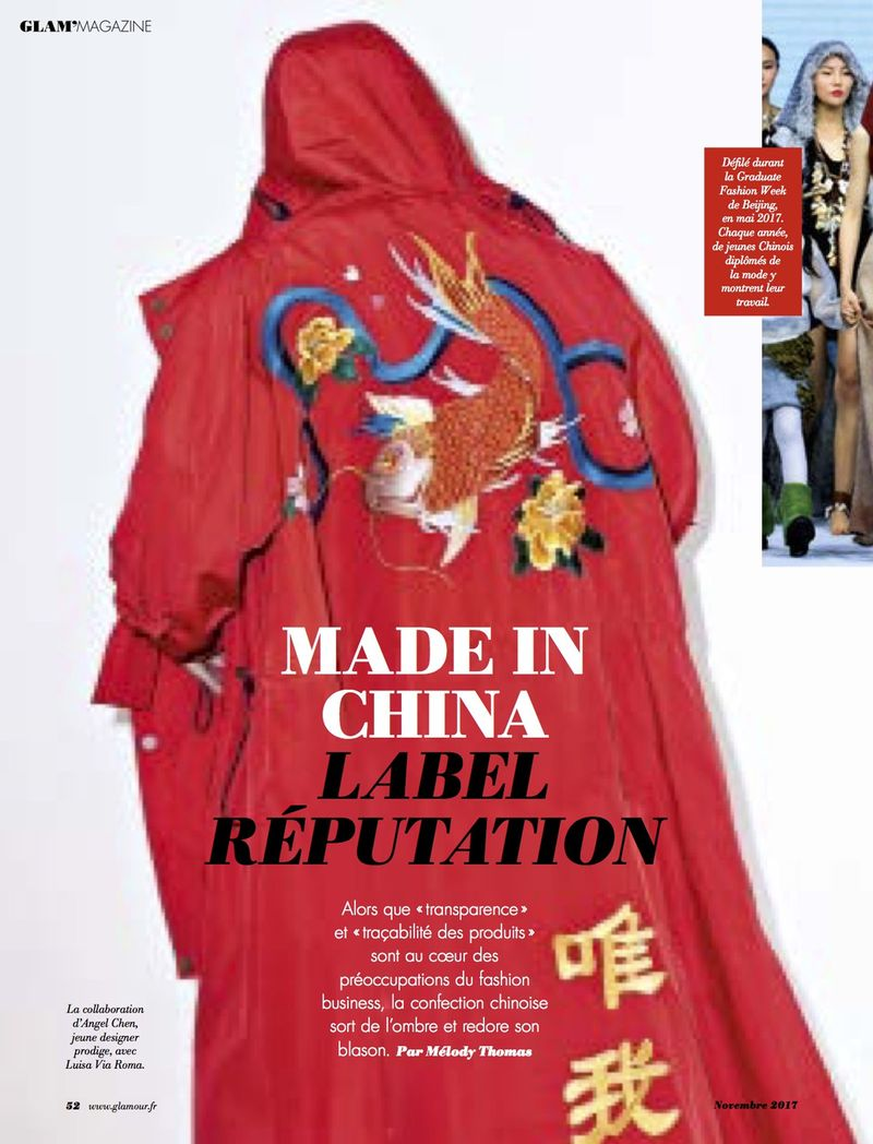Made in China, label reputation / Glamour Paris