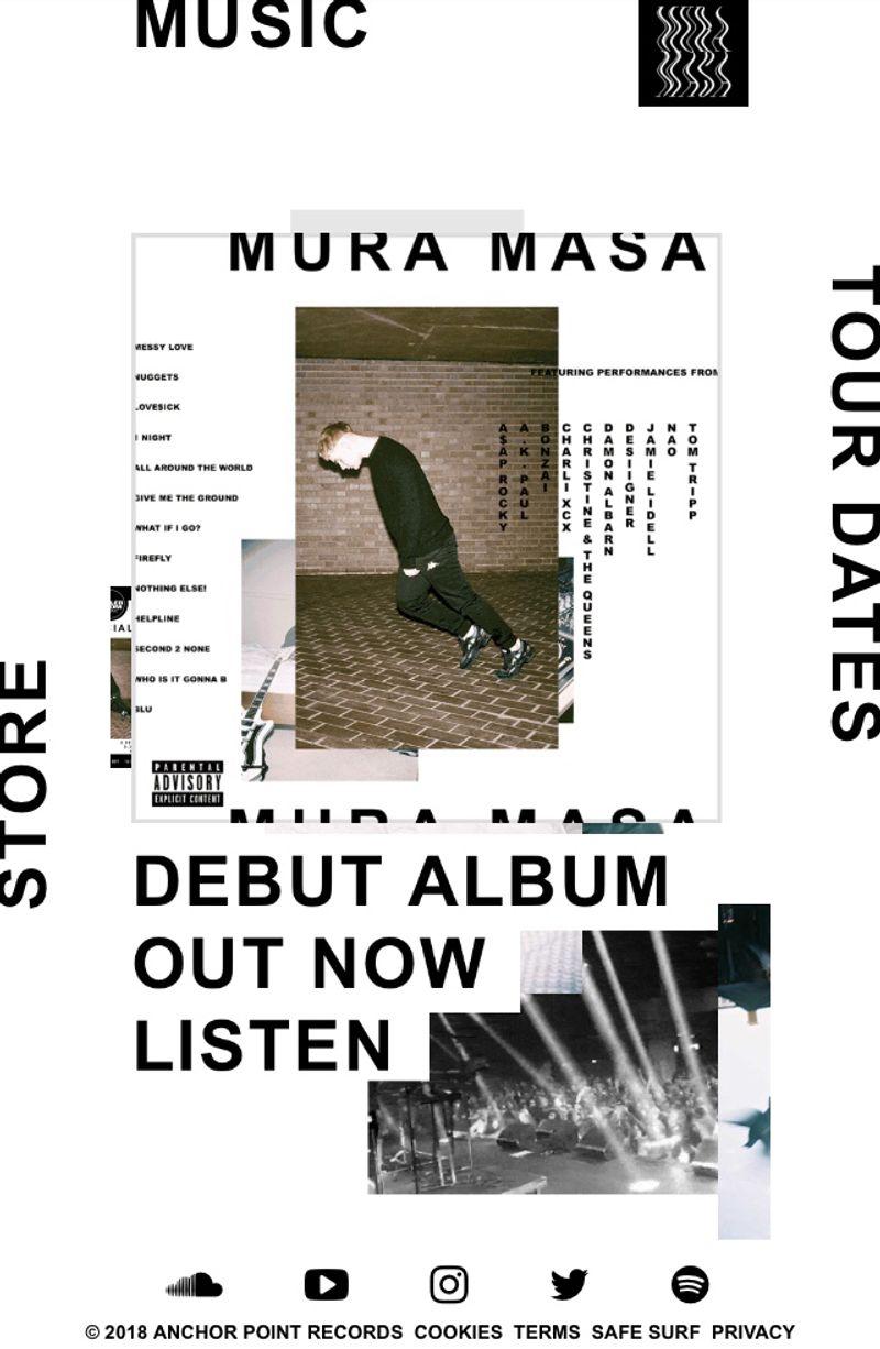 Website for Mura Masa