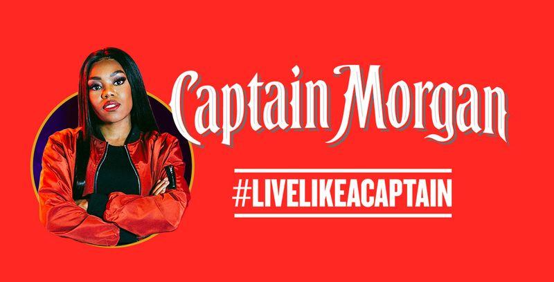 Captain Morgan & Lady Leshurr #LiveLikeACaptain