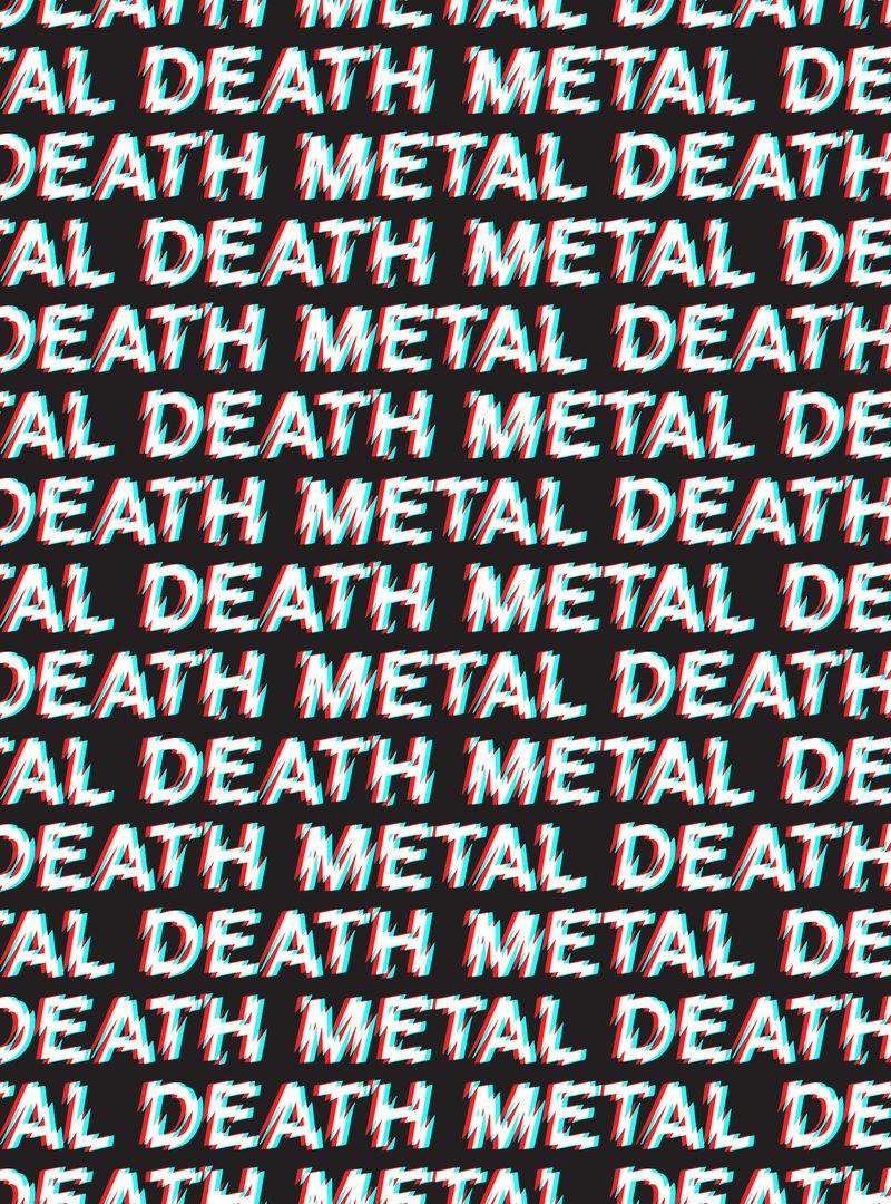 Death Metal Pattern Poster Design