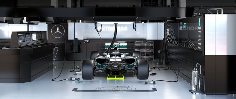 TEAM MERCEDES F1 MUSEUM DISPLAY