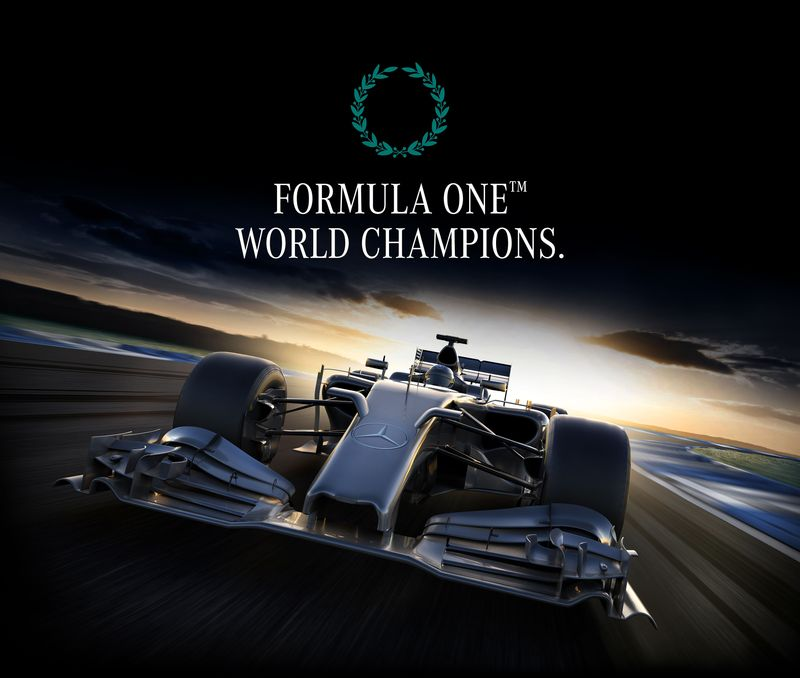 MERCEDES F1 CHAMPIONS CANVAS
