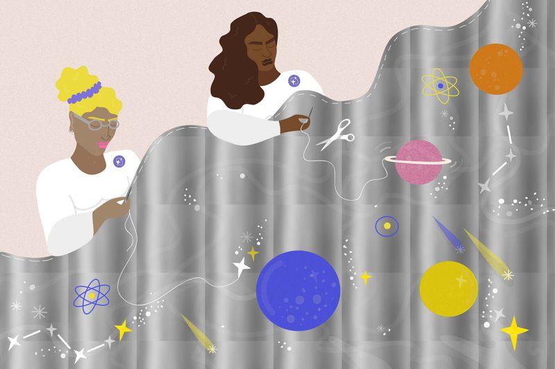 Space Blankets | Stylist Magazine | Erin Aniker Illustration