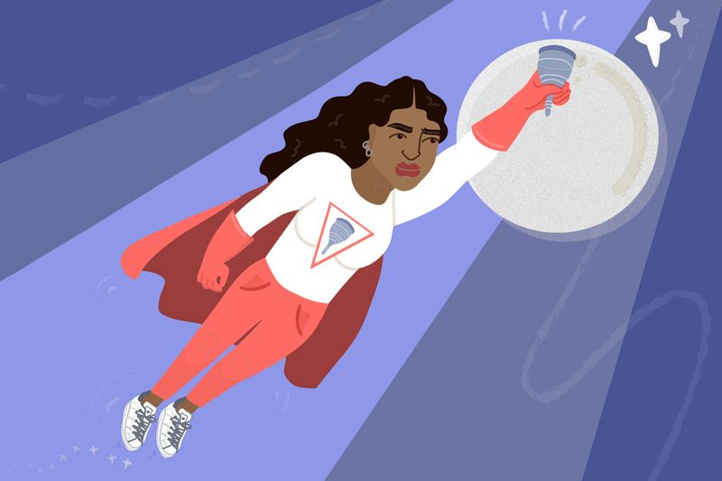 'Why a Mooncup is the most life-changing purchase you'll make in 2018' | Stylist Magazine | Erin Aniker Illustration