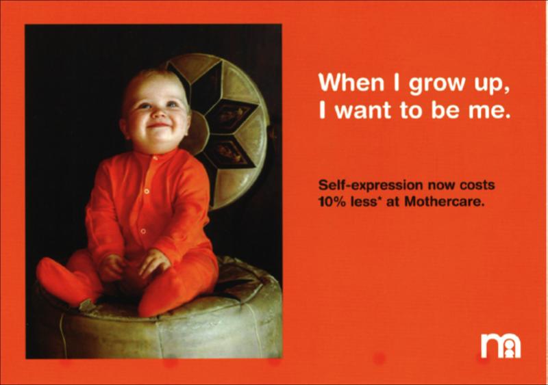 Mothercare sale postcards