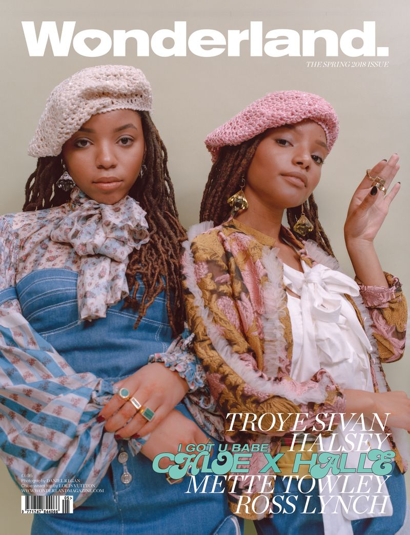 ChloexHalle cover shoot for Wonderland Spring 18 Issue