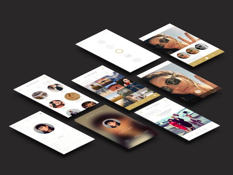 Statuzz Brand Idenity / App design