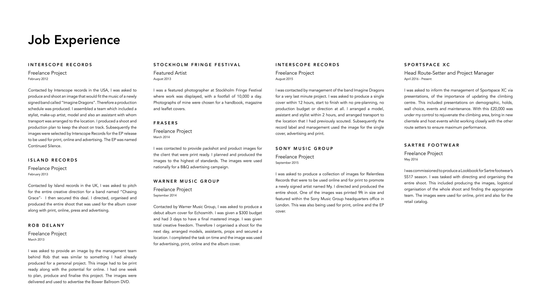 Louis Lander Deacon Brief CV | The Dots
