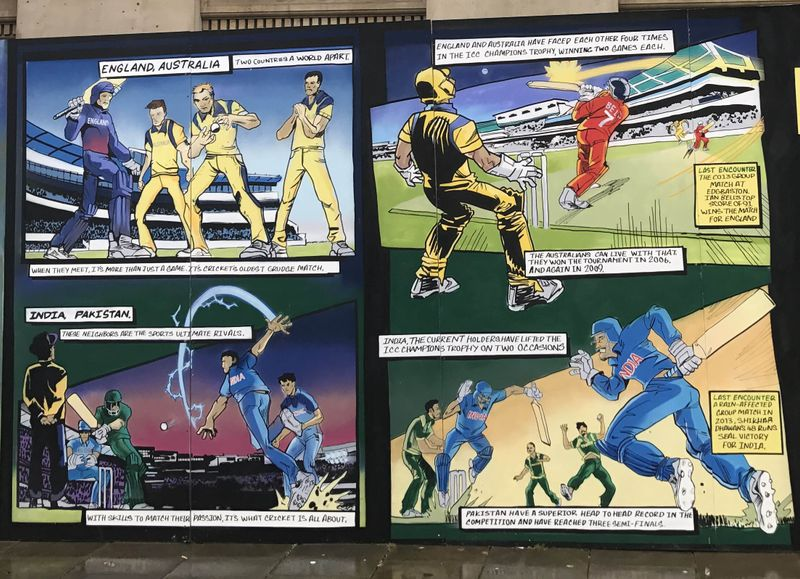 ICC Cricket - Lifesize Comic Book Art