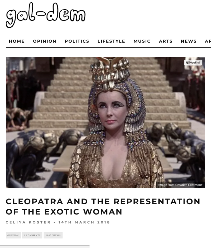 Cleopatra and the representation of the Exotic Woman | Writer