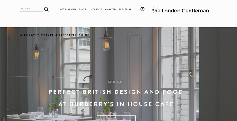 Contemporary Art, Design, Lifestyle Writer and Photographer - The London Gentleman