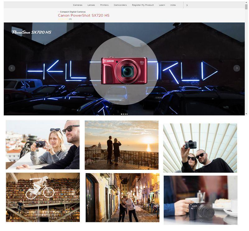 Product Launch - Canon SX720HS