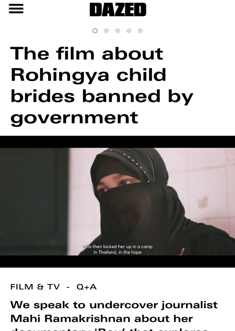 The film about Rohingya child brides banned by government