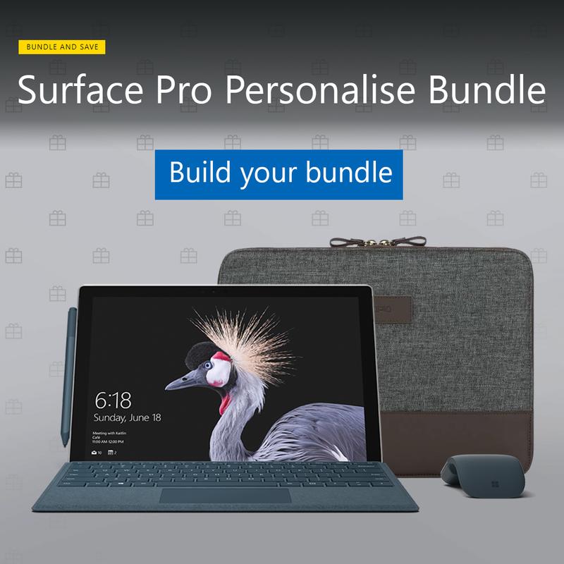 Surface Pro Personalise Bundle Promotion