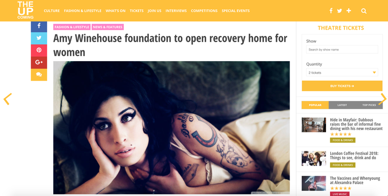 Amy Winehouse foundation to open recovery home for women