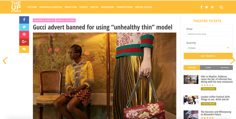 "Gucci advert banned for using ""unhealthy thin"" model"